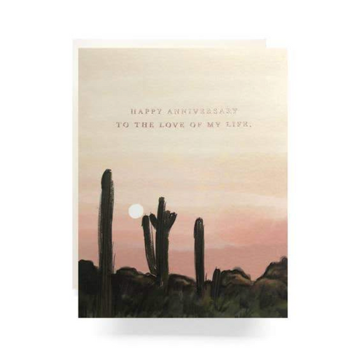 Antiquaria Greeting Card — Sunset Anniversary