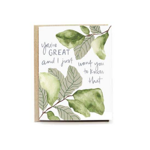 Pen + Pillar— You're So Great Card