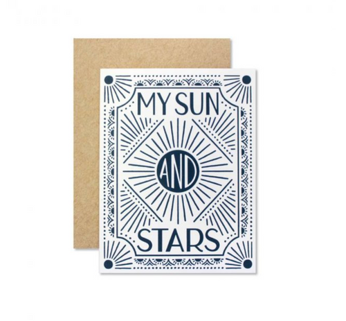Wild Hart Paper — Sun and Stars Card