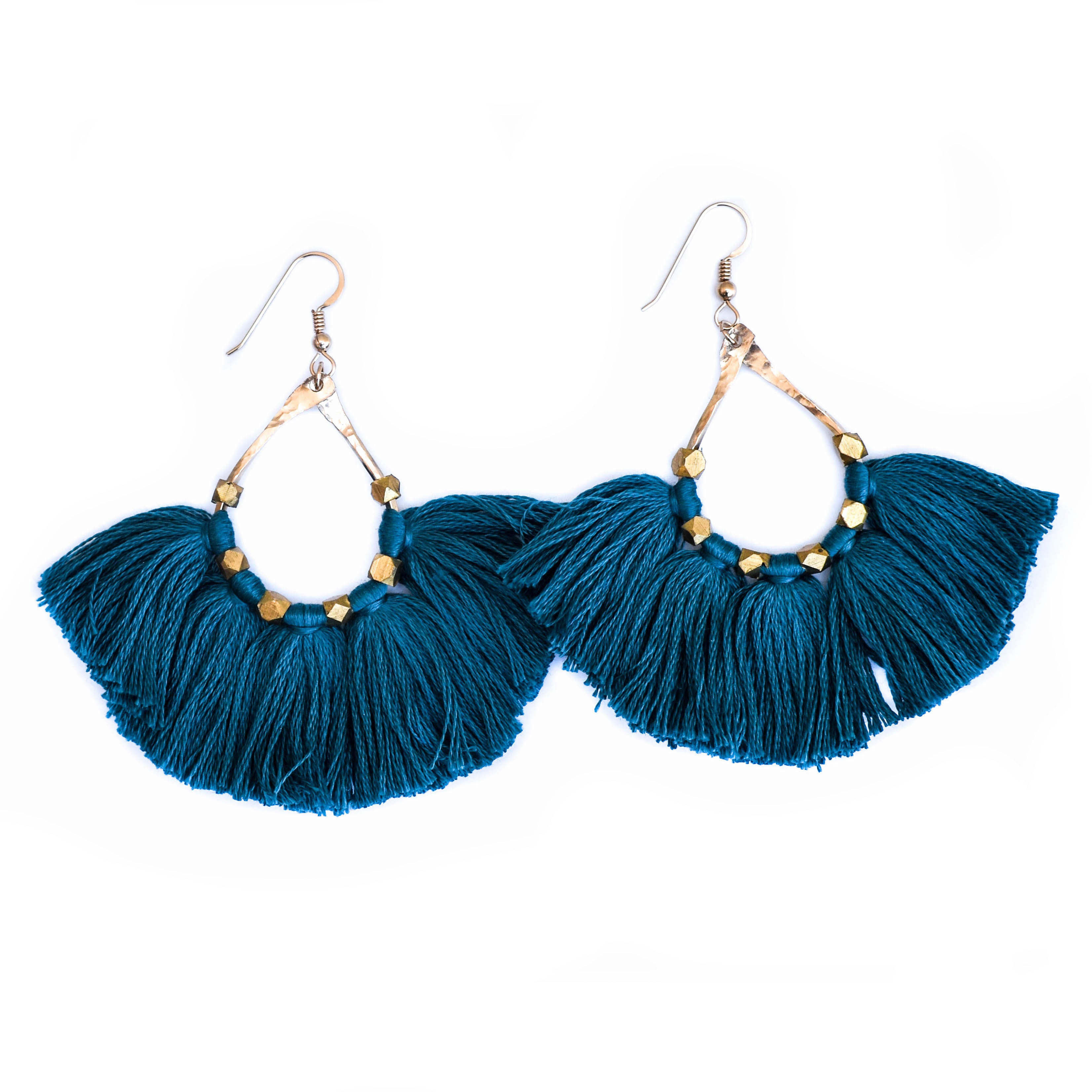 Earrings - Tassel (Dark Teal)