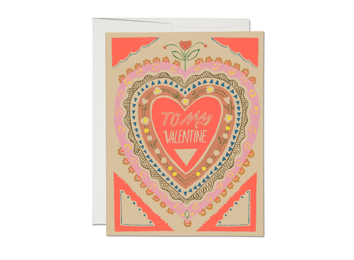 To My Valentine — Note Card — Red Cap Cards