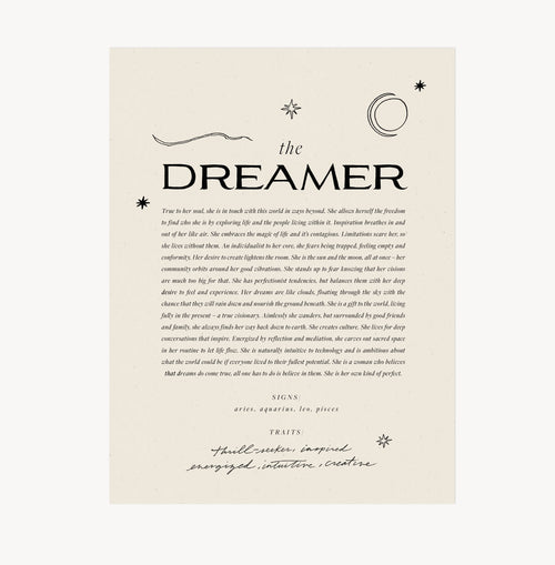 The Dreamer — Wilde House Paper — Print
