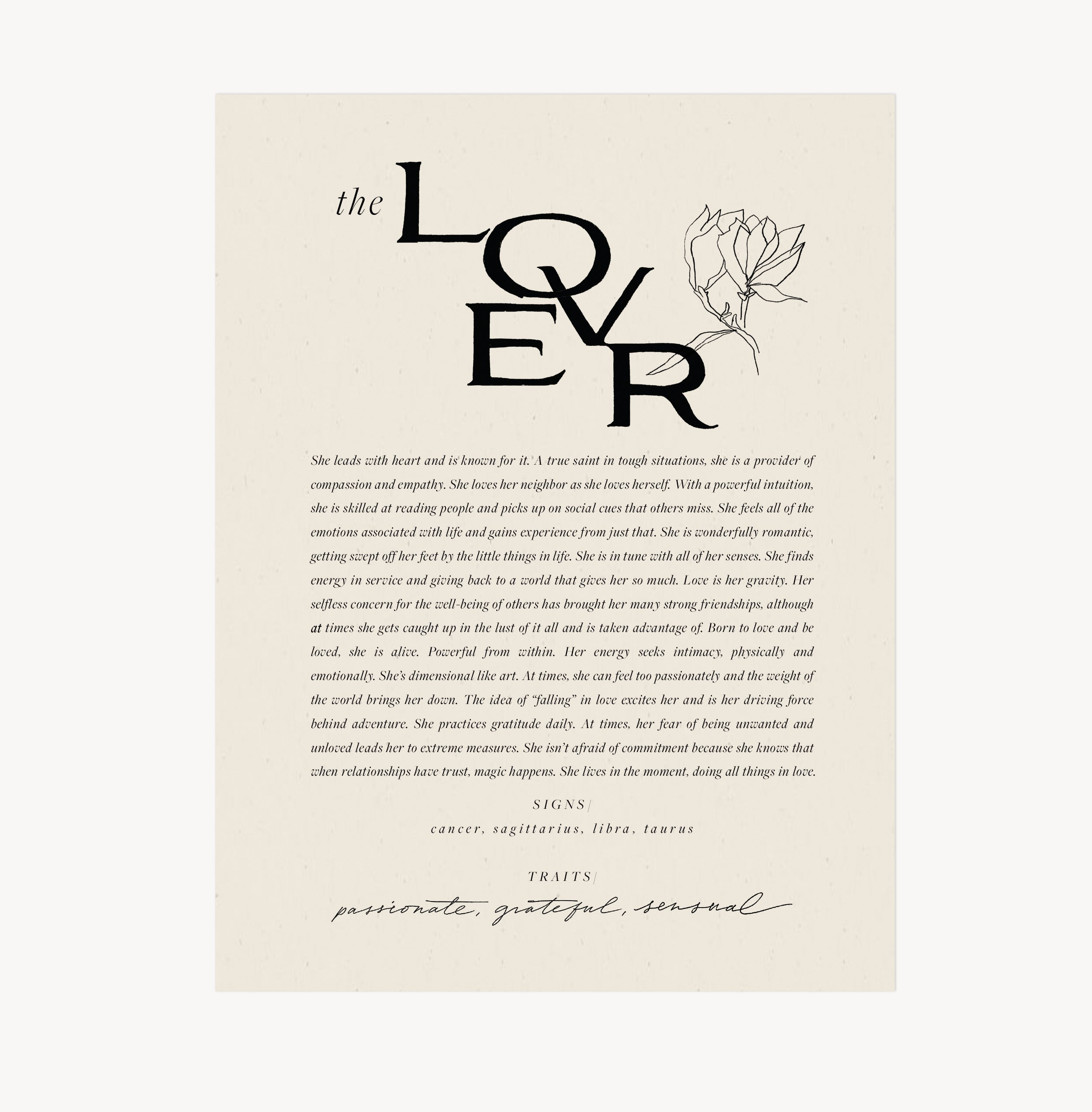 Wilde House Paper — The Lover Print