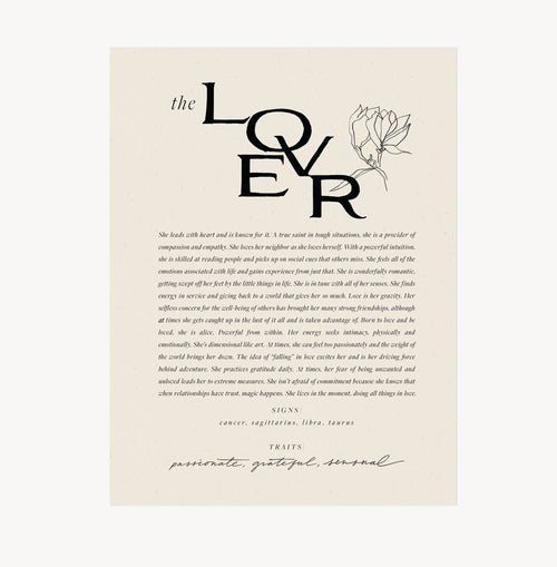 The Lover — Wilde House Paper — Print