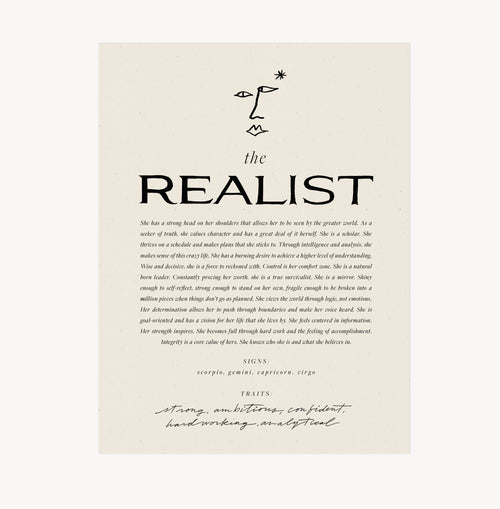 The Realist — Wilde House Paper — Print