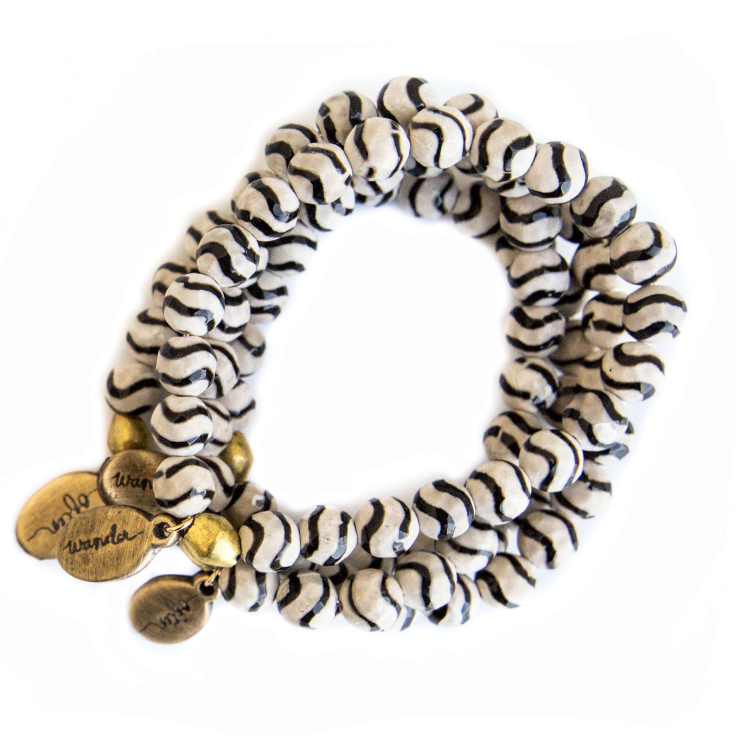 *NEW* Beaded Bracelet - Zebra Agate
