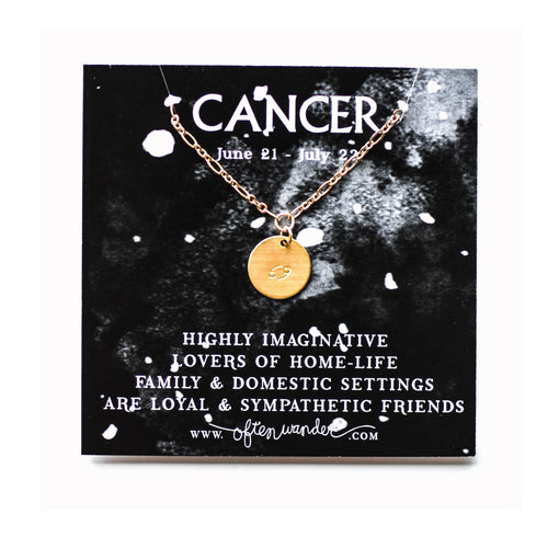 Astrological Necklace — Cancer [JUNE 21 - JULY 22]