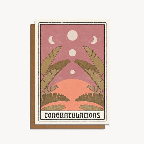 Clam Shell Congrats — Note Card — Red Cap Cards