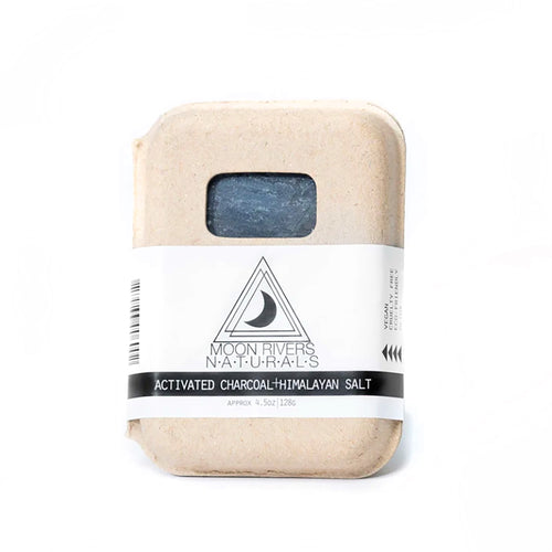 Activated Charcoal + Himalayan Sea Salt — Soap Bar — Moon Rivers Naturals
