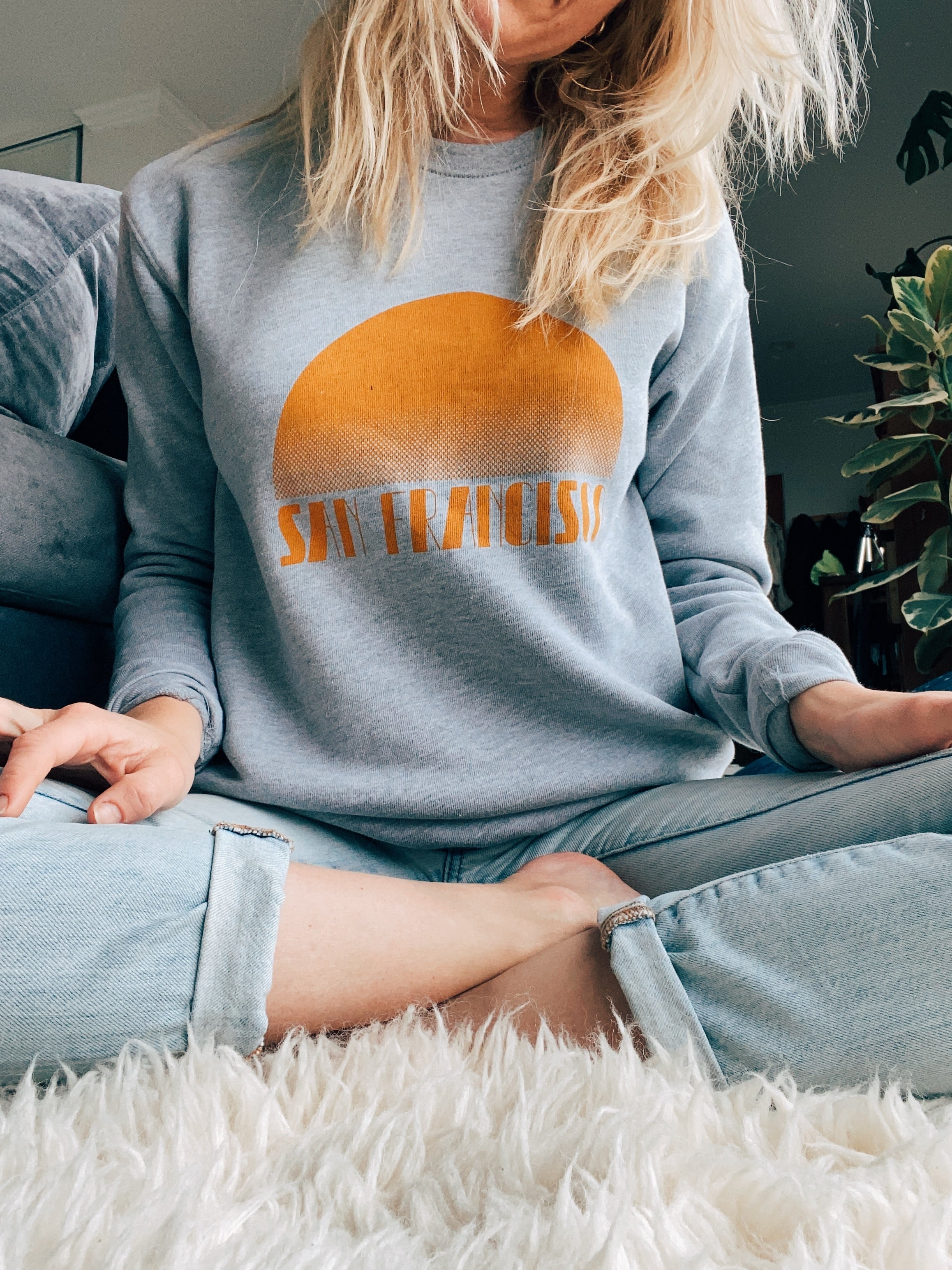 Gray + Mustard — Crew Neck Sweatshirt — Establish