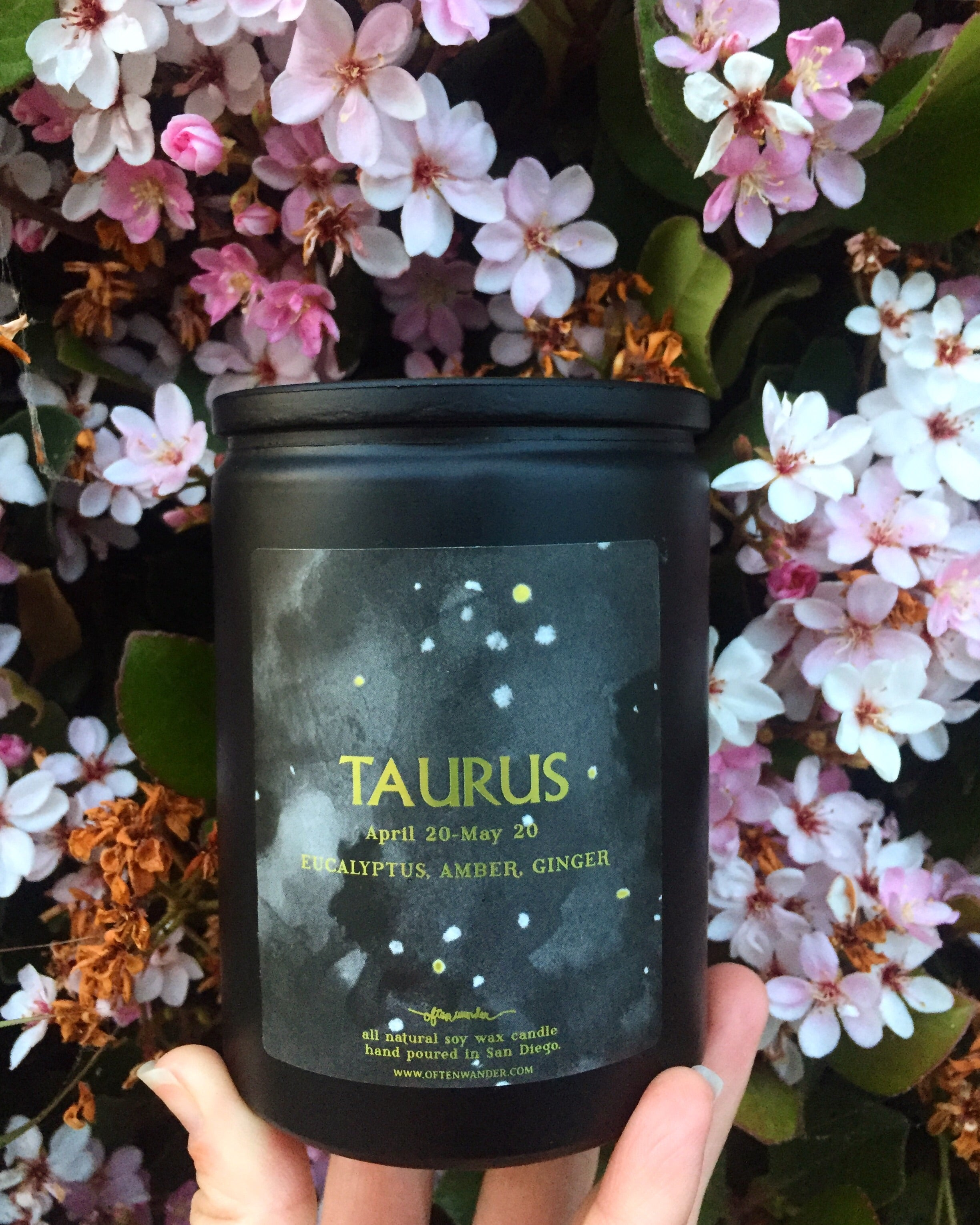 Noir Astrological Candle - Taurus [APRIL 20 - MAY 20]