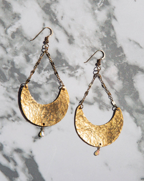 Earrings - Moon Drops