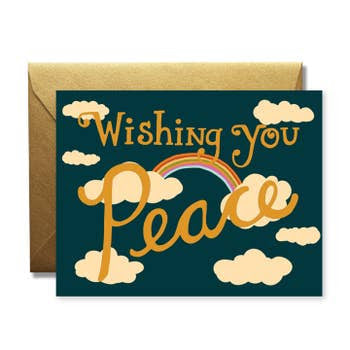 Wishing You Peace — Note Card — The Rainbow Vision