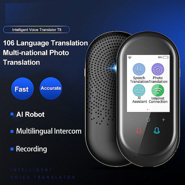 New Arrival Portable T8 2.4 inch  104 language Translator wifi version traductor Travel tradutor muama enence