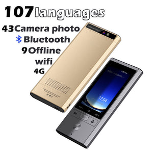 Camera offline Interpreter multi-language portable smart voice translator two-way real time tourism 107 multi languages device