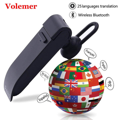 Peiko Translation Headphone Support 23 Languages Smart Dual Mode Wireless Bluetooth Voice Translator For Travel Business Headset