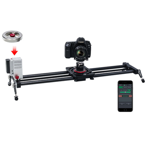 C200 Motorized Camera Slider with Flywheel Handle