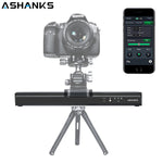 Motorized Camera Slider, ASHANKS 30CM/11.8in Mini Electric Video Slider with Silent Stepper Motor, APP Control DSLR Camera Timelapse Slider for SLR Micro SLR Gopro Mobile Interview Film Photography