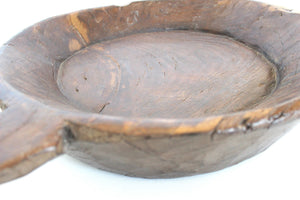 Hand Carved  Indian natural wood display bowl