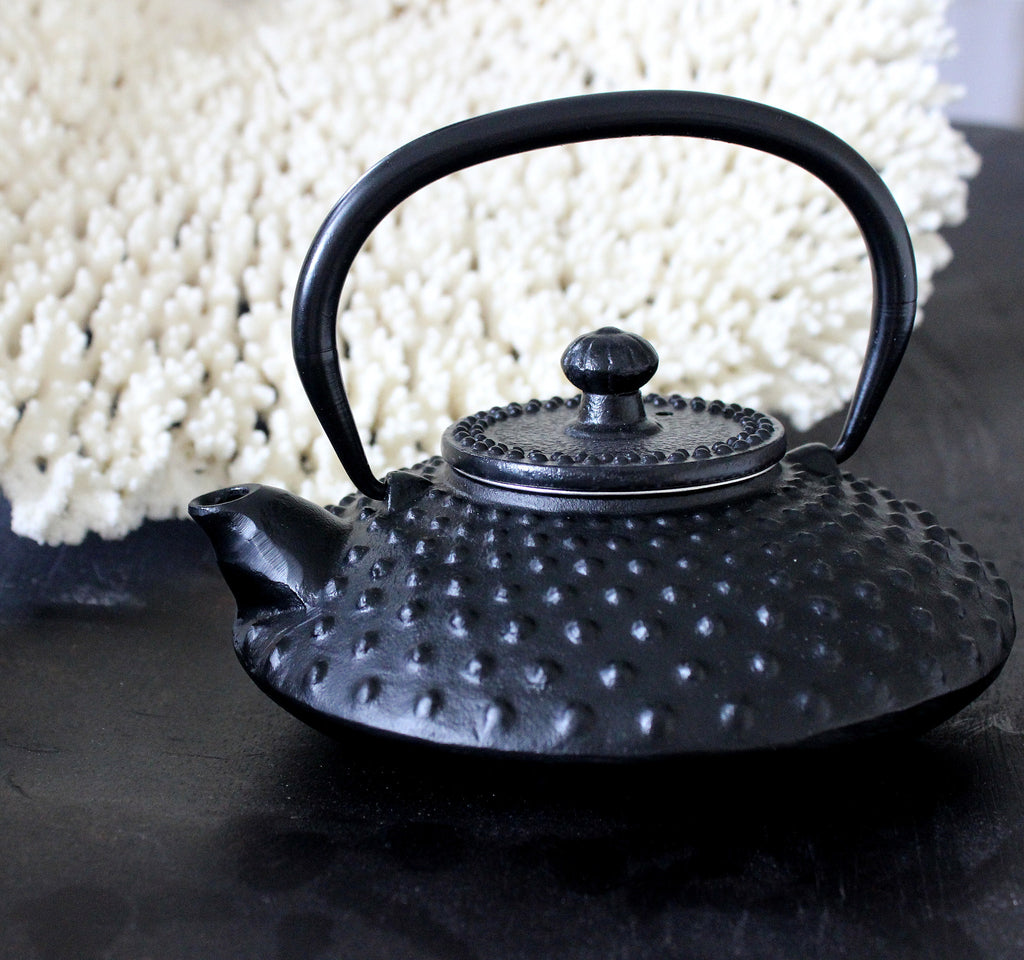 Oriental cast iron tea pot