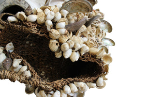 Sisal and twined sea shell bag