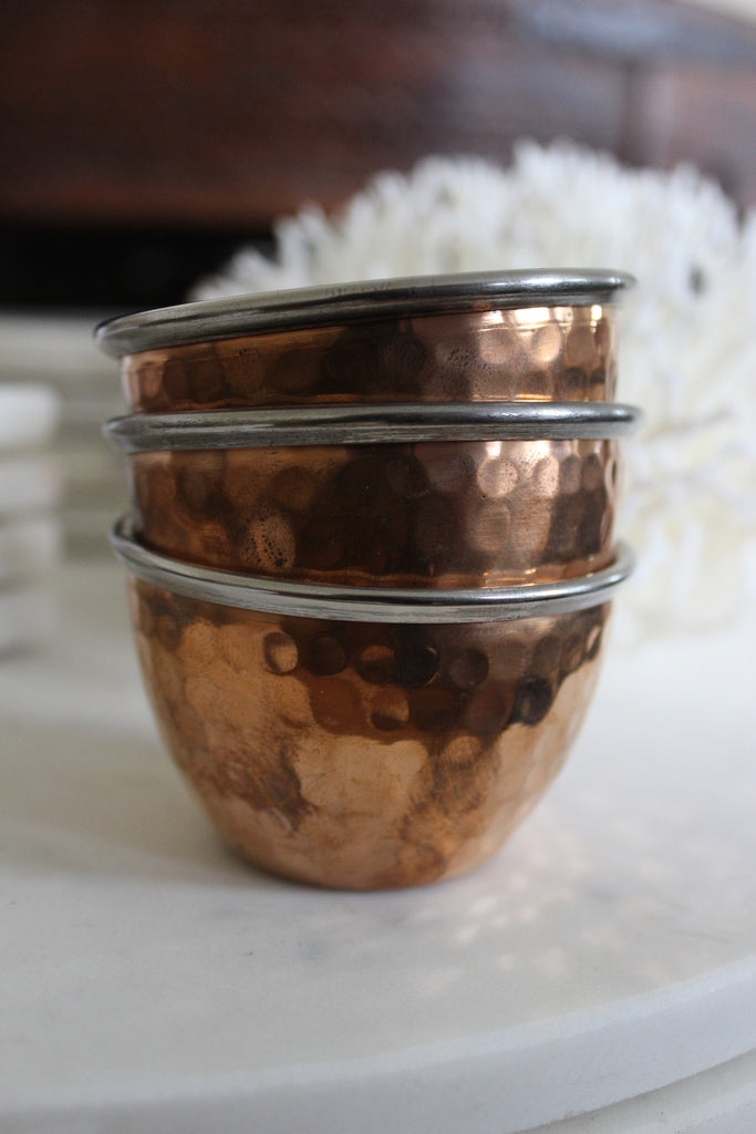Copper and Stainless Pinch Pot