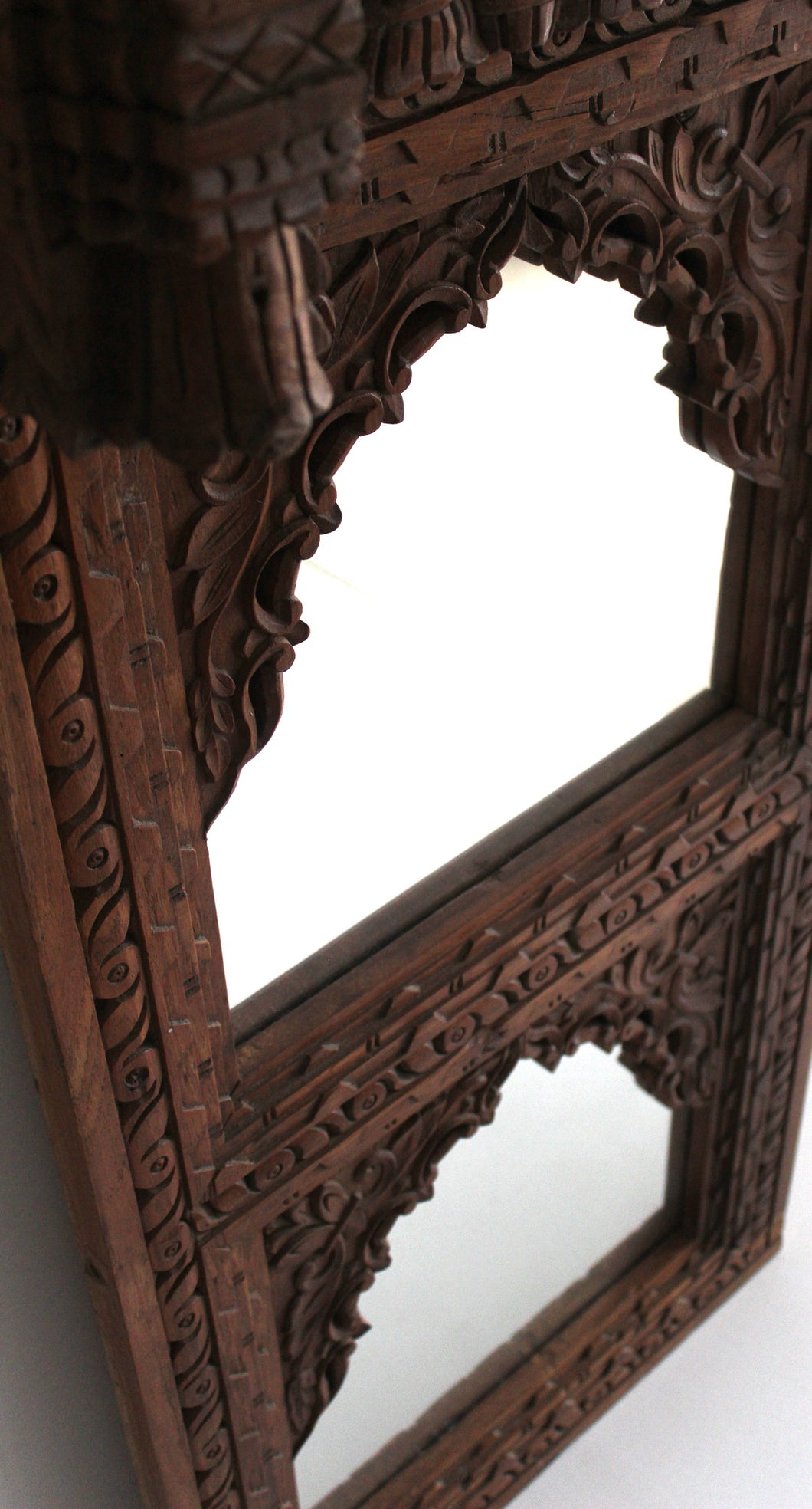 Indian carved mirror
