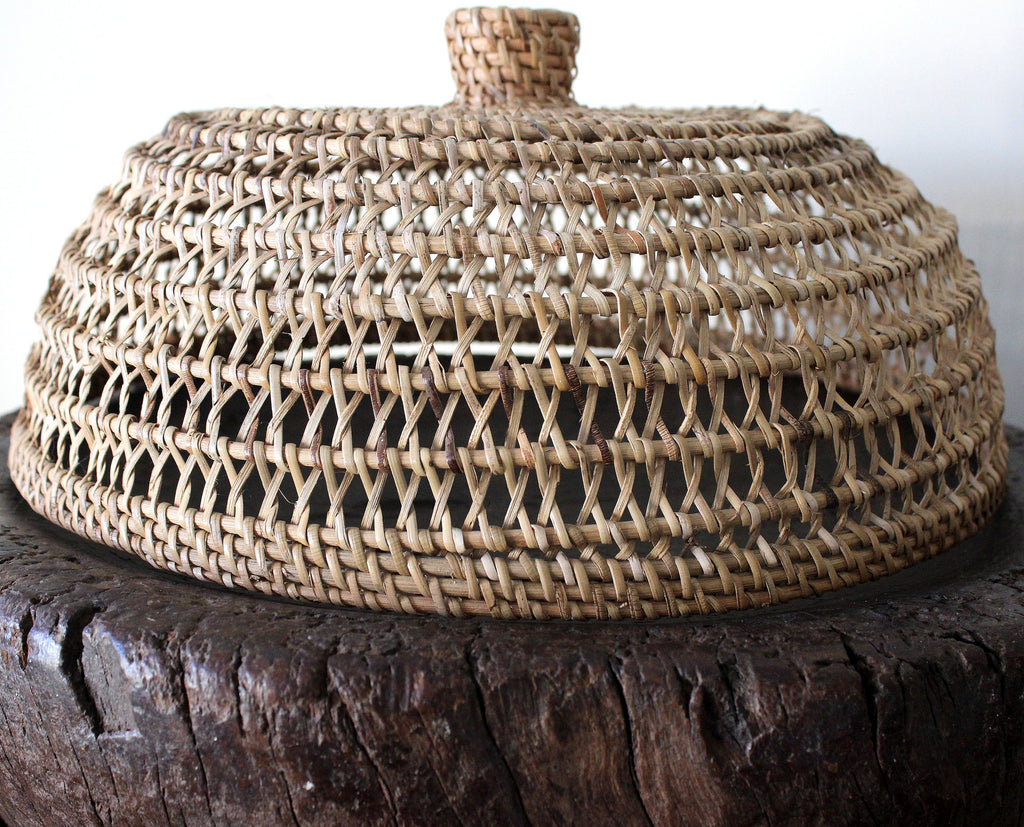 Rattan weaved cloche