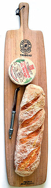 Trudeau Long Paddle Cheese and Bread Board