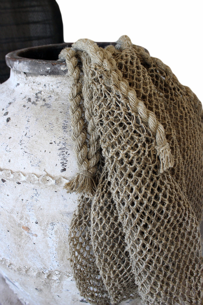 Natural fibre woven bag