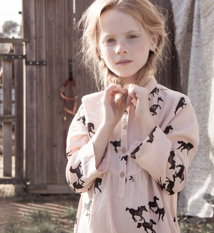 Bobo Choses Shirt Dress Horses