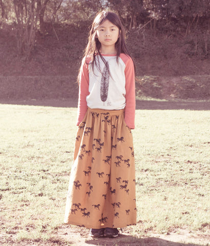 Bobo Choses Feather Raglan, Bobo Choses Long Skirt Horses