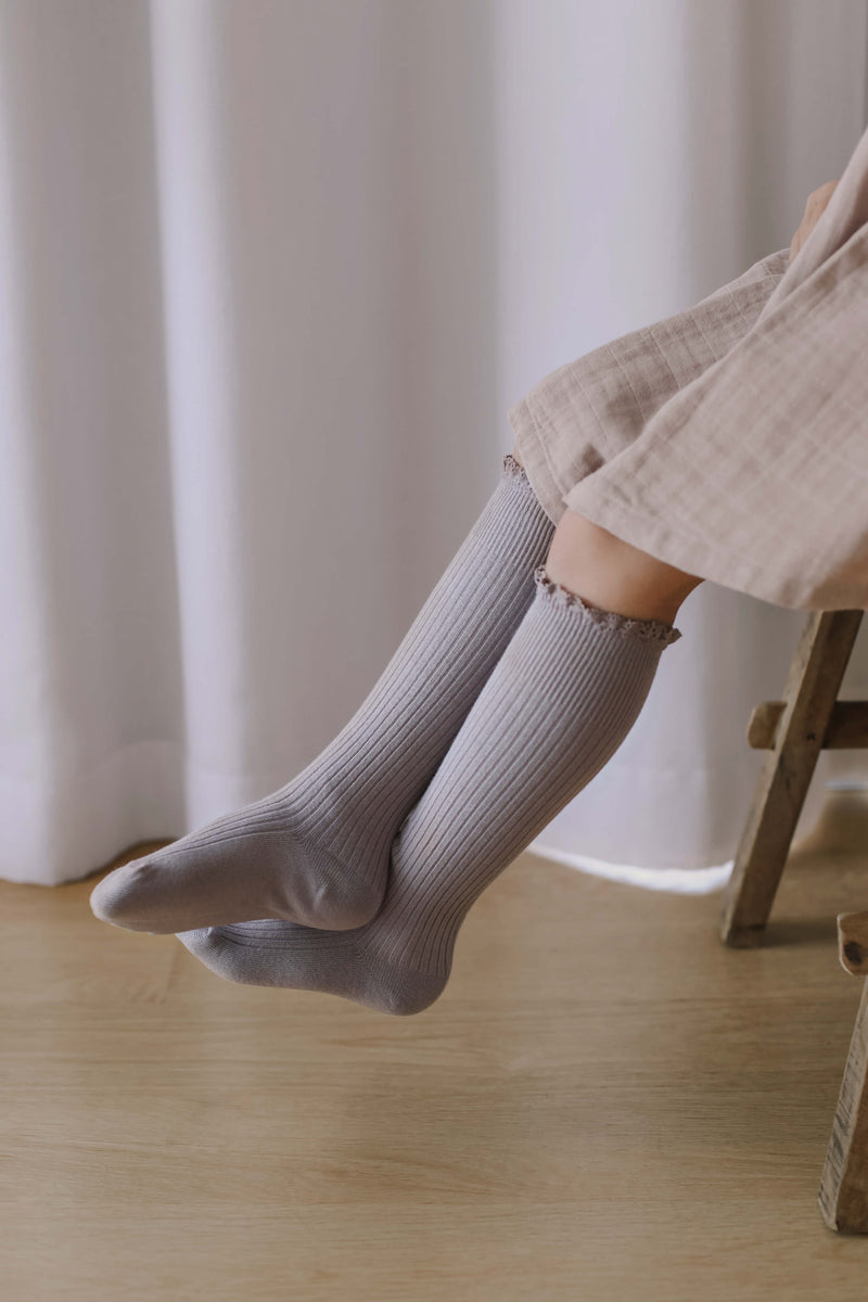 Jamie Kay Frill Socks Fawn | Tiny People