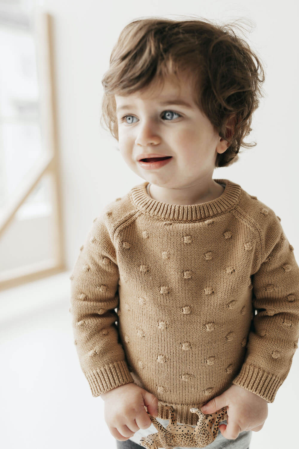 Jamie Kay Dotty Knit Latte | Tiny People
