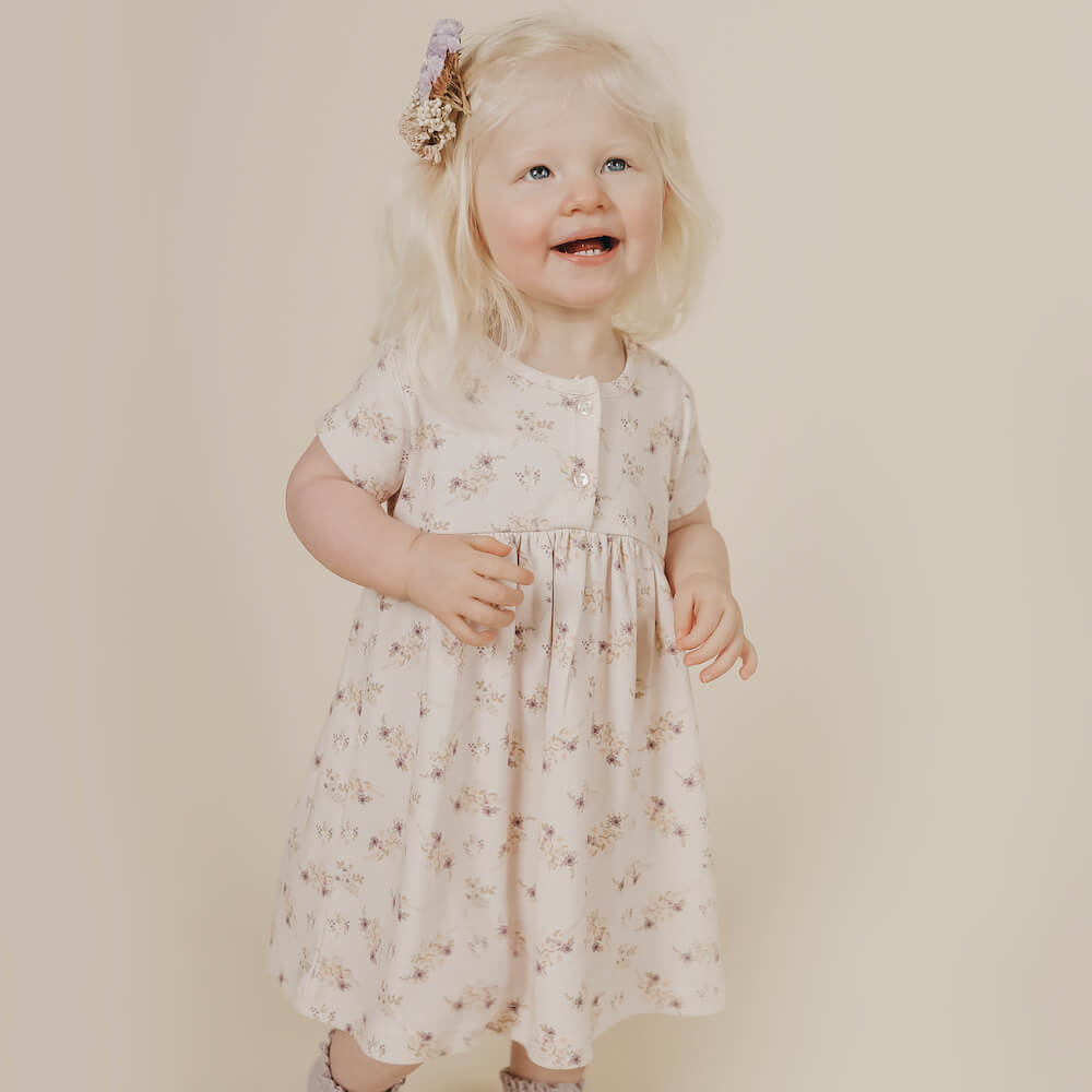 Jamie Kay Short Sleeve Dress Sweet Pea Floral | Tiny People