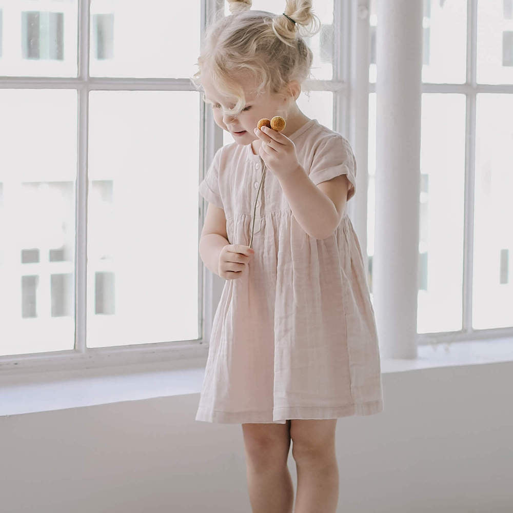 Jamie Kay Tee Dress Candy Floss | Tiny People