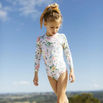 KAISEA SWIMWEAR Eden Long Sleeve Rashie One Piece **PRE ORDER** - Tiny People Cool Kids Clothes Byron Bay