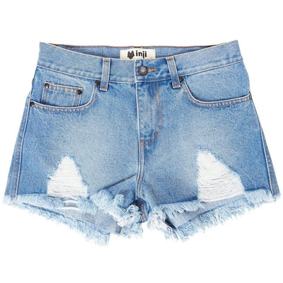 Inji Dusty Denim Shorts (Womens) Shorts - Tiny People Cool Kids Clothes