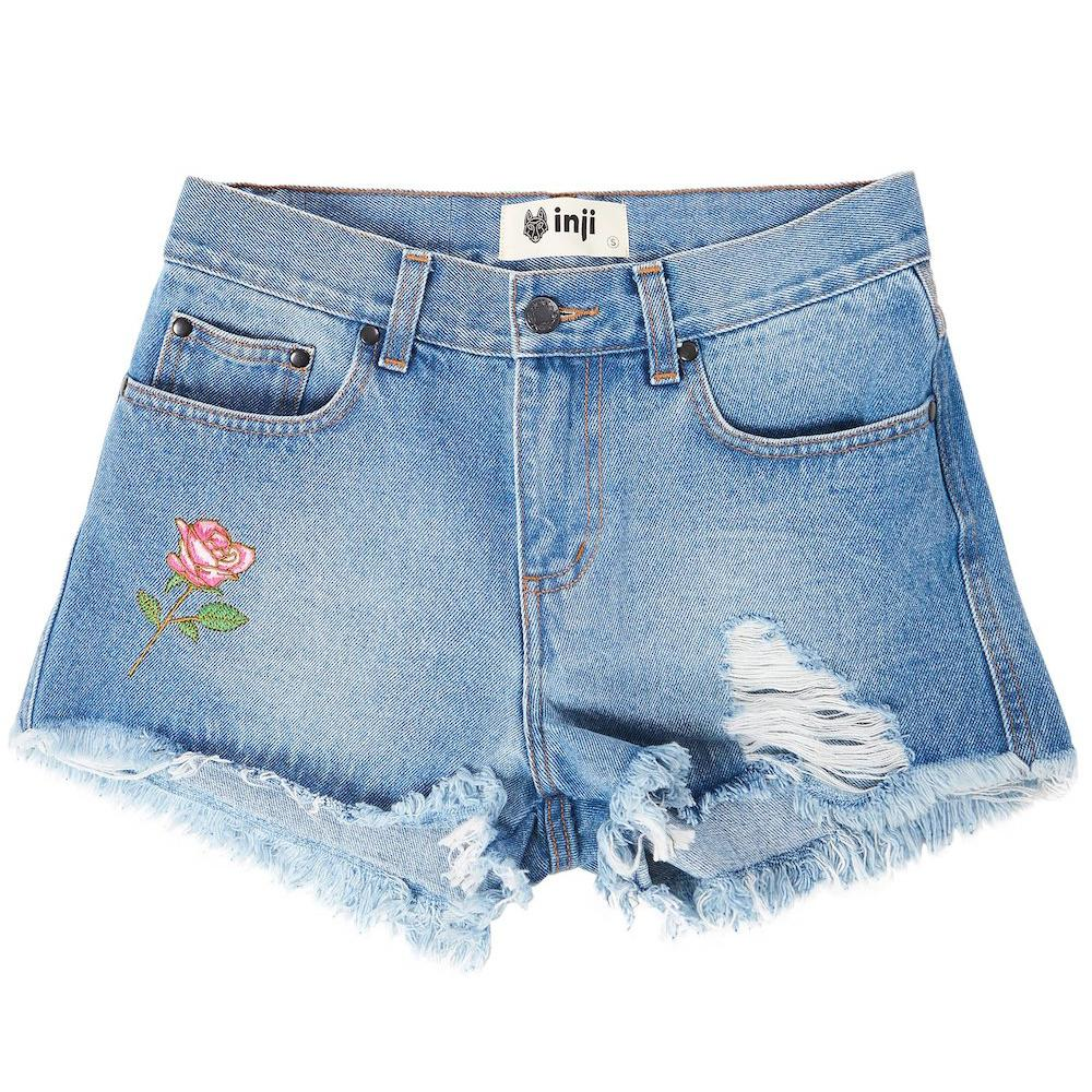 Inji Rosie Denim Shorts (Womens) Shorts - Tiny People Cool Kids Clothes