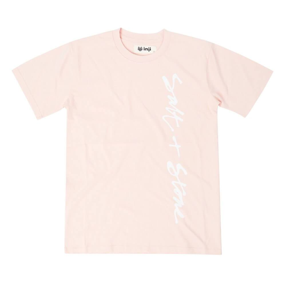 Inji Salt & Stone Pink Tee (Mens) Tops & Tees - Tiny People Cool Kids Clothes