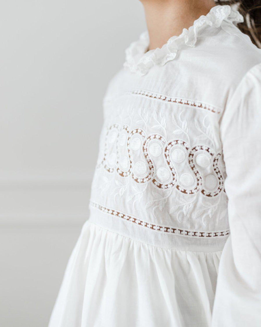 Petite Amalie Embroidered Babydoll Dress **PRE ORDER** - Tiny People Cool Kids Clothes Byron Bay