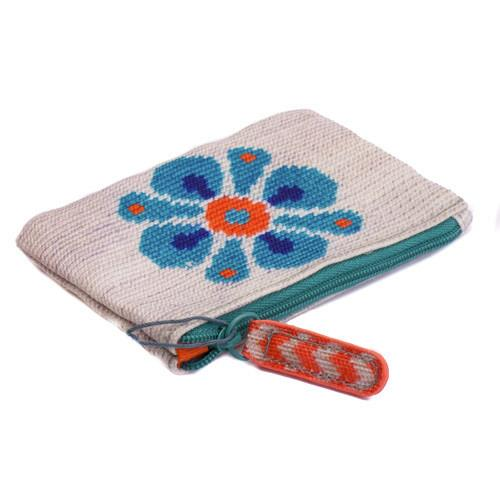 Blue Flower Coin Purse