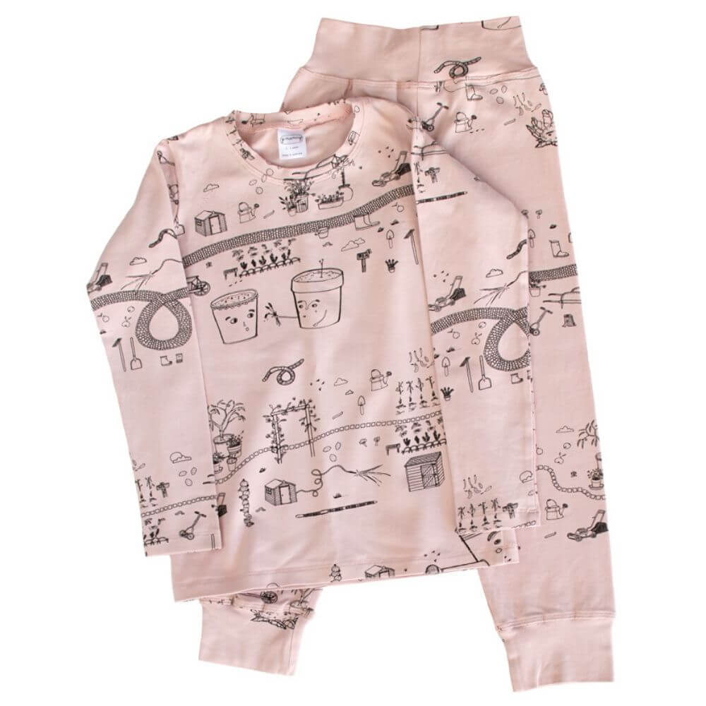 G. Nancy Rose Garden Long Sleeve PJ Set | Tiny People