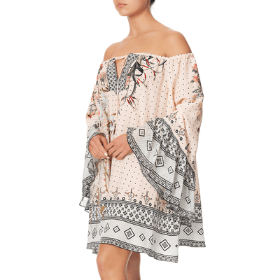 Kindred Skies A-Line Dress with Ruffle Sleeve