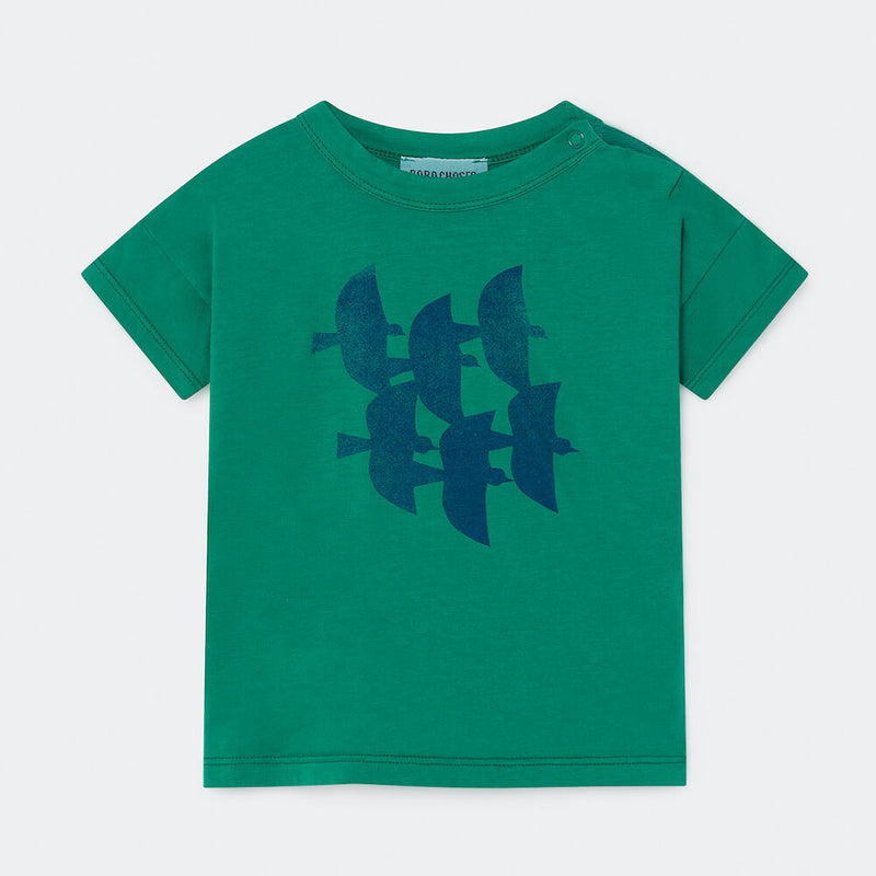 Bobo Choses Flying Birds Short Sleeve T-Shirt | Tiny People