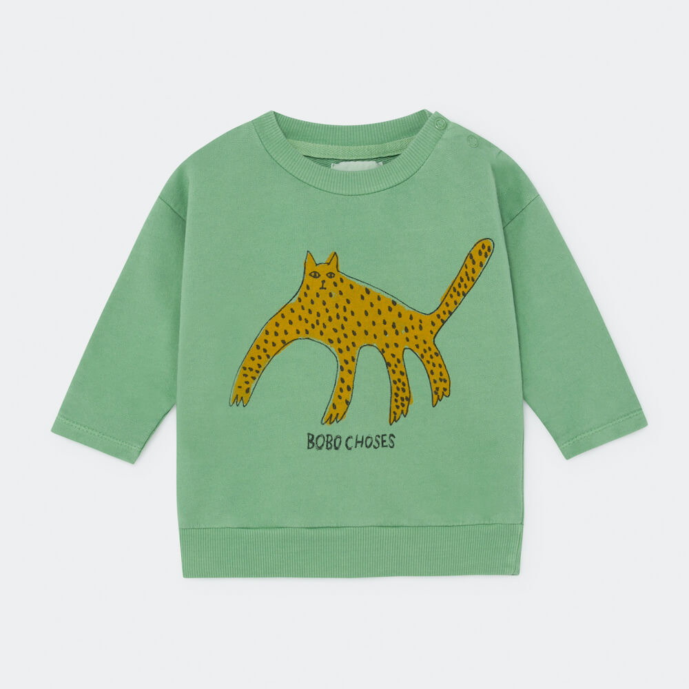 Bobo Choses Leopard Sweatshirt Baby | Tiny People