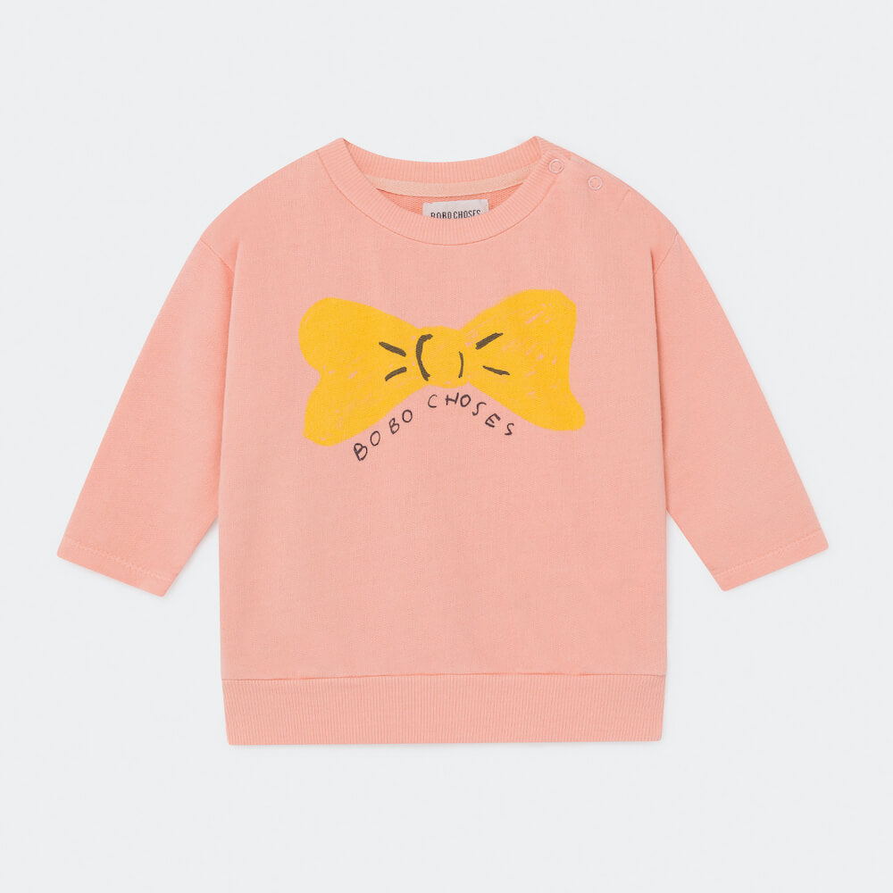 Bobo Choses Bow Sweatshirt Baby | Tiny People