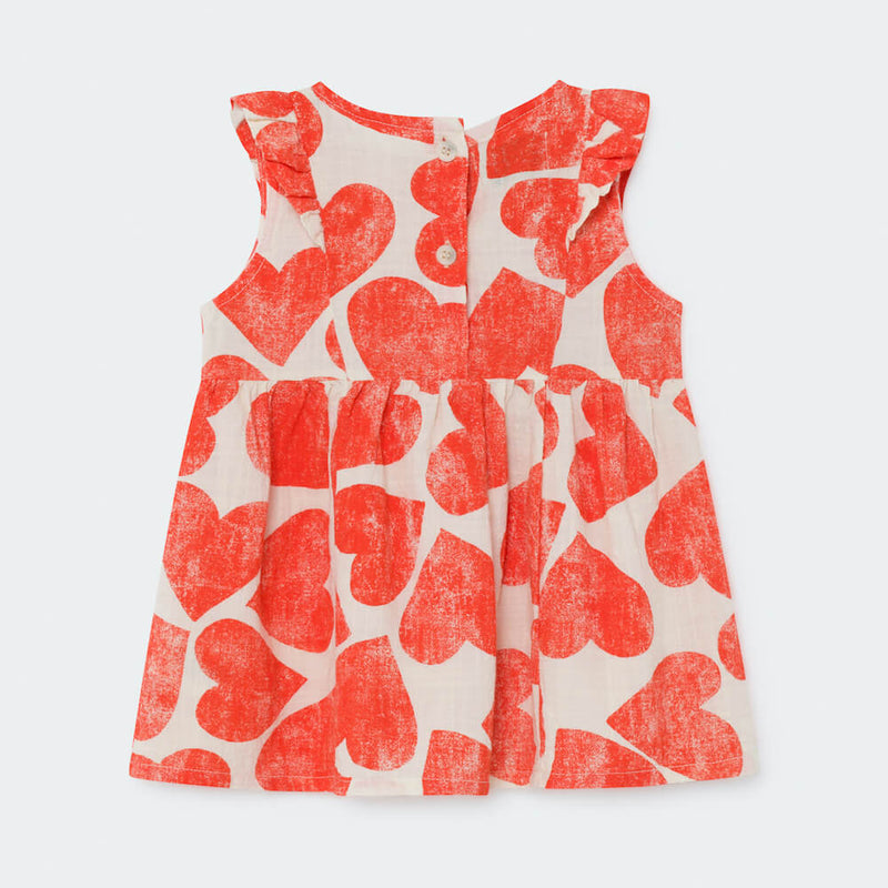 Bobo Choses All Over Hearts Ruffle Dress | Tiny People