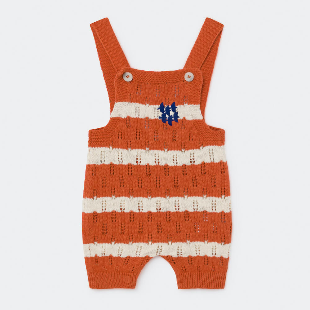 Bobo Choses Striped Knitted Playsuit | Tiny People