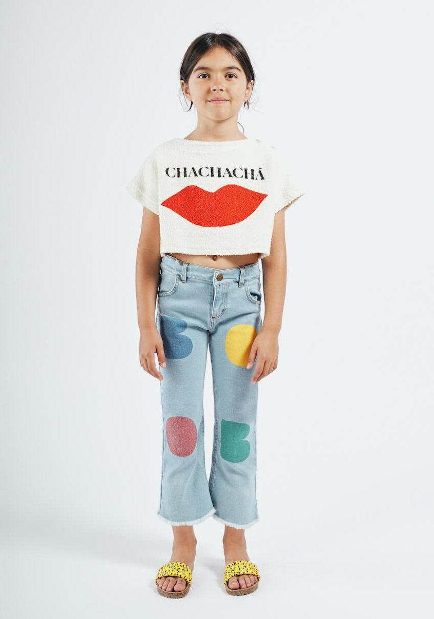 Bobo Choses Chachacha Kiss Cropped Sweatshirt | Tiny People